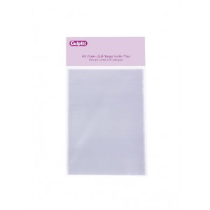 50 Clear Bags with Ties - Small