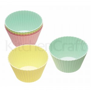 Pack of 6 Silicone Muffin Cases