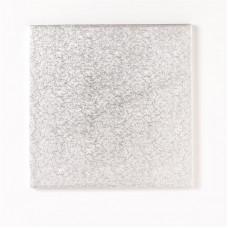7'' Square Silver Cake Board