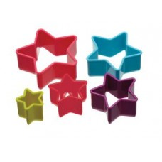 Set of 5 Plastic Star Cookie Cutters