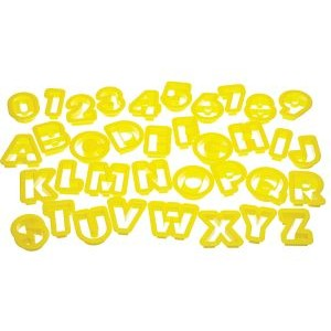 Alphabet & Number Cookie Cutters
