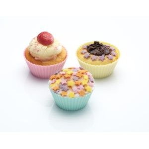 Pack Of 12  Silcone Mini Cake Cases