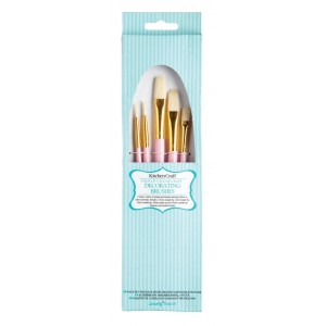 Five Pack of Sugar Craft Decorating Brushes
