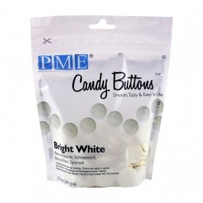 Candy Buttons - Bright White