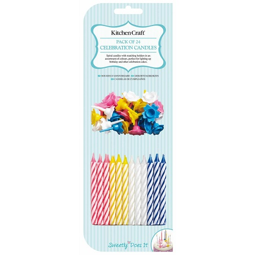 Sweetly Does It Pack Of 24 Birthday Candles With Holders