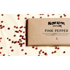 NOM NOM Luxury Welsh Chocolate - Pink Pepper White Chocolate 85g