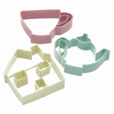 Set of 3 Tea Set Cookie Cutters
