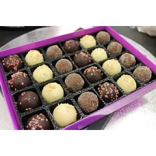 Box of 24 Belgian Chocolates & Truffles - Assorted Milk, White and Dark