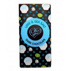 Choc Affair Lime & Sea Salt Dark Chocolate Bar