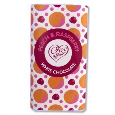Choc Affair Peach & Raspberry White Chocolate Bar