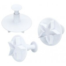 Set of 3 Lotus Blossom Plunger Cutters